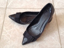 Zara black flat pumps