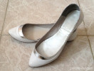 Jonak white flat pumps