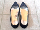 Guess black suede flat pumps