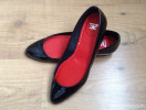 Black patent flat pumps by Les Prairies de Paris