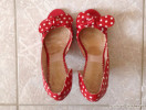 Mellow Yellow red dotted high heels