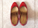 St Michaels red patent pumps