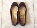 French Sole brown ballerinas
